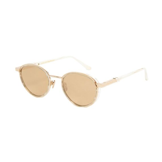 Leisure Society Dryden in 18k Rose Gold/Glacier with Mirrored Lenses