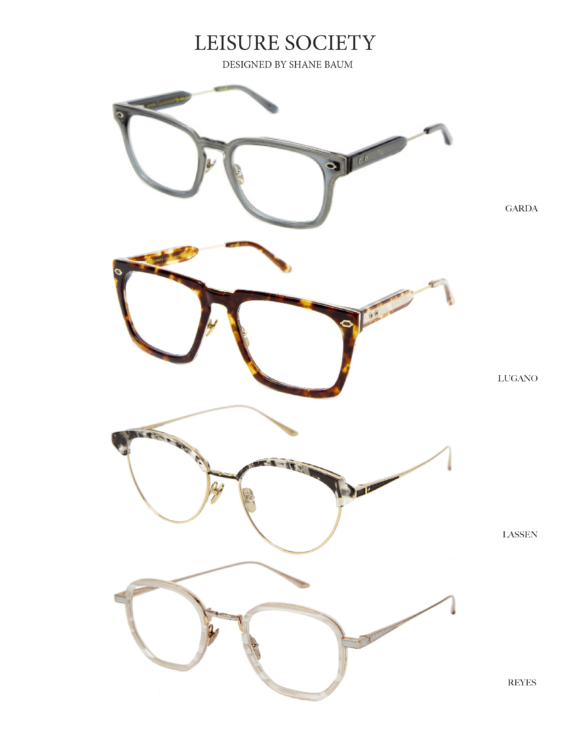 Leisure Society Featured Frames: Garda, Lugano, Lassen, and Reyes