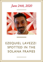 Ezequiel Lavezzi in Leisure Society Solana in 18k Rose Gold Tinted