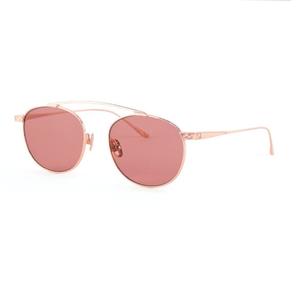 18k Rose Gold Sunglasses with white background