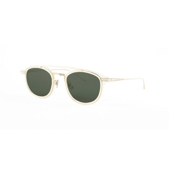 Sunglasses in front of white background.